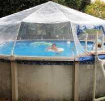 Чем накрыть каркасный бассейн