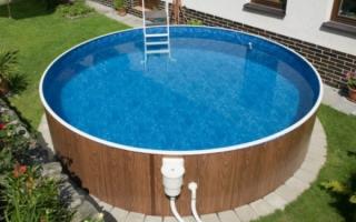 На что поставить бассейн на улице