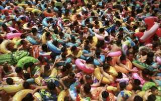 Как выглядят общественные бассейны в китае